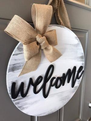 Welcome Kapı Süsü Hoşgeldin Çelenk