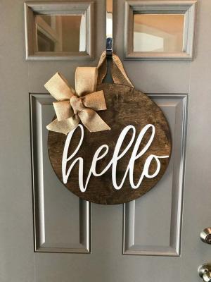 Kapı Süsü Merhaba Çelenk Hello