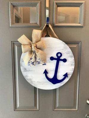 Denizçi Kapı Süsü Çapa Kapı Çelenk
