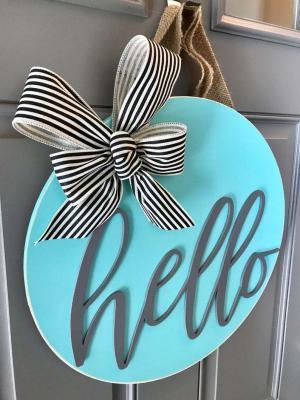 Merhaba Kapı Süsü Sahil evi Çelenk Hello özel