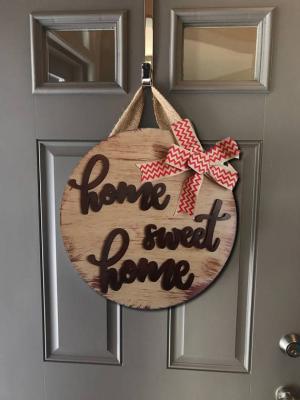 Kapı Süsü Evim Güzel Evim