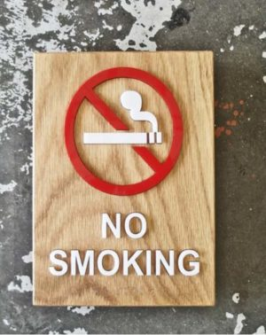 Sigara İçilmez Kapı Süsü İşareti Tabelası Levhası