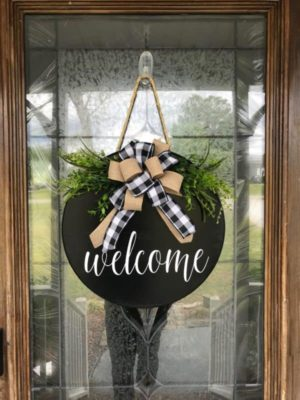 Kapı Süsü Welcome Siyah Hediyelik