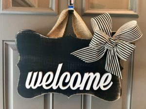 Ön Kapı İşareti Kapı Süsü Welcome Hoşgeldin Çelengi