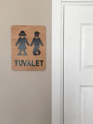 Wc Tuvalet Banyo Kapı Süsü Kadın Erkek Kapı İşareti