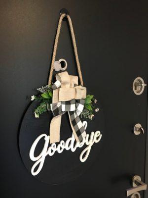 İç Kapı Süsü Goodbye Ev Hediyesi